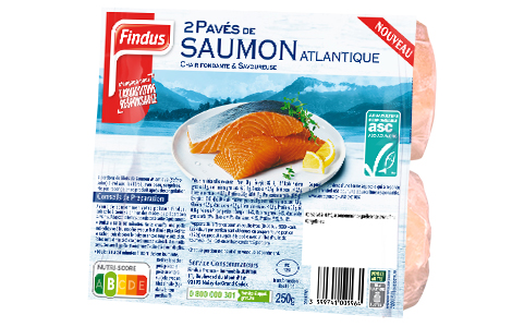 2 pavés de saumon atlantique Findus