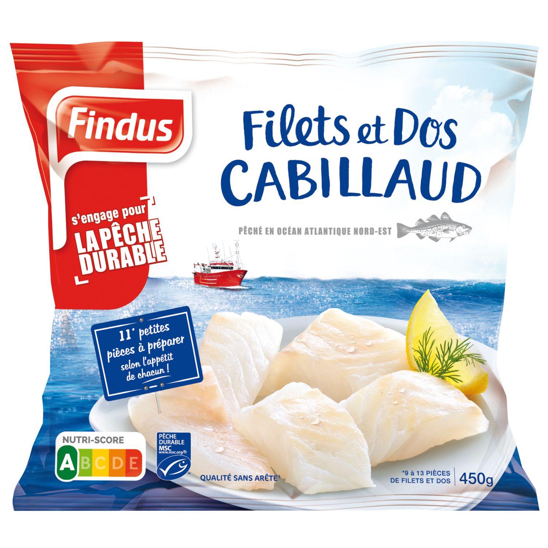 Filets et Dos Cabillaud MSC 450g