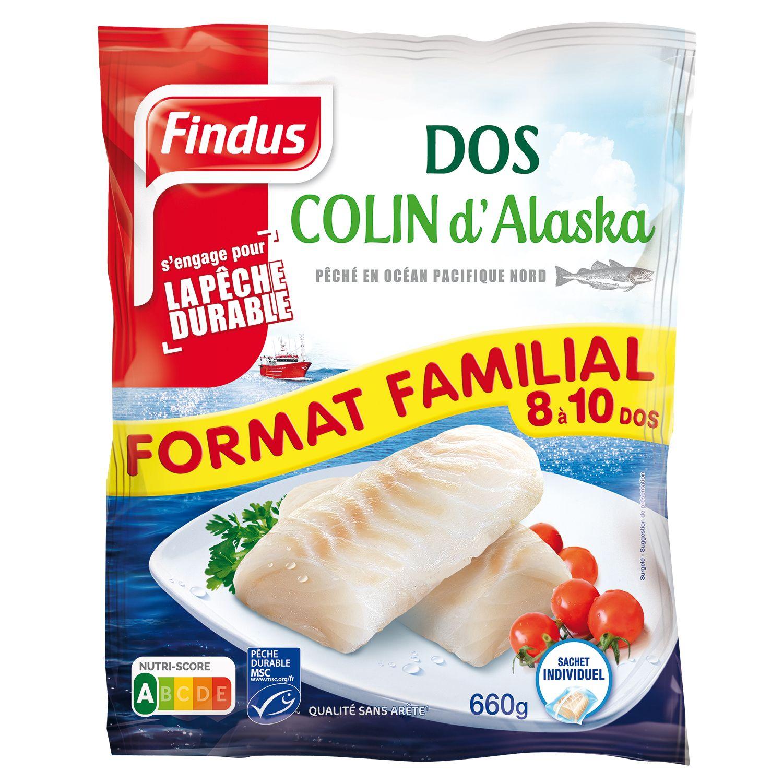 1 sachet de Dos de Colin d'Alaska format familial