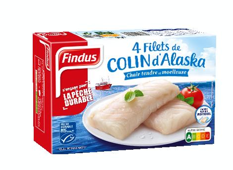 Findus 4 Filets Colin MSC 400g
