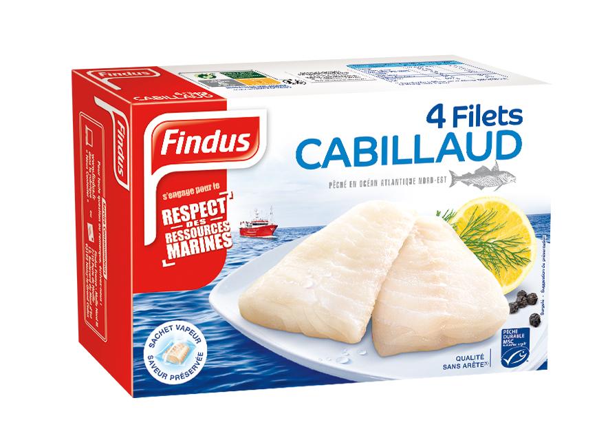 Findus 4 Filets Cabillaud MSC 400g