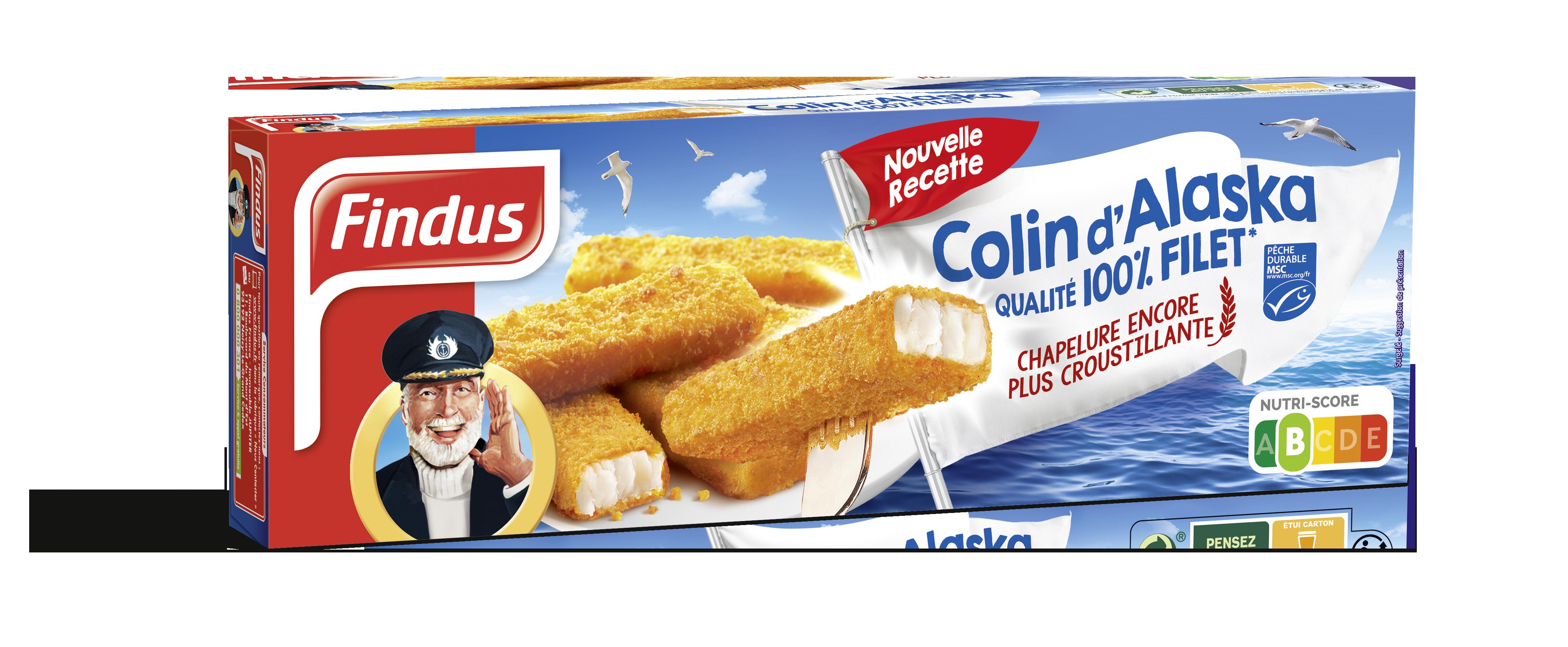 Batonnets Colin Alaska poisson panés Findus