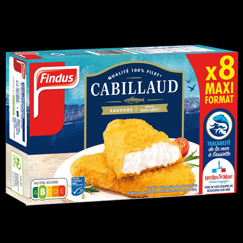 Filets Cabillaud format familial