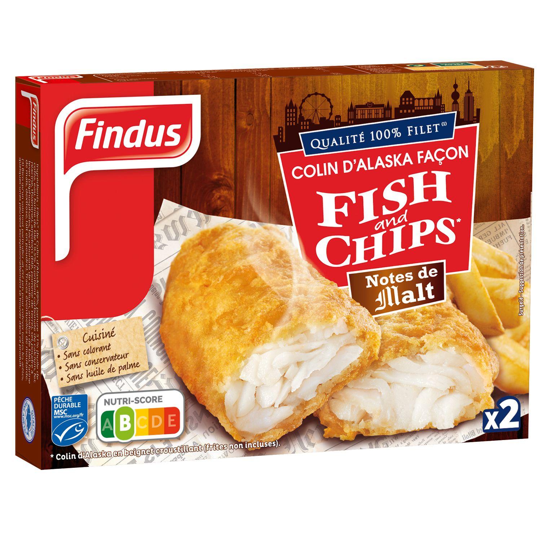 1 boite de Colin d'Alaska Fish and Chips notes de Malt