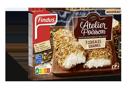 Paquet de poisson pané aux céréales et graines atelier poisson Findus