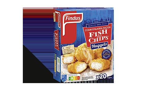 Nuggets de Colin d'Alaska Findus façon Fish & Chips