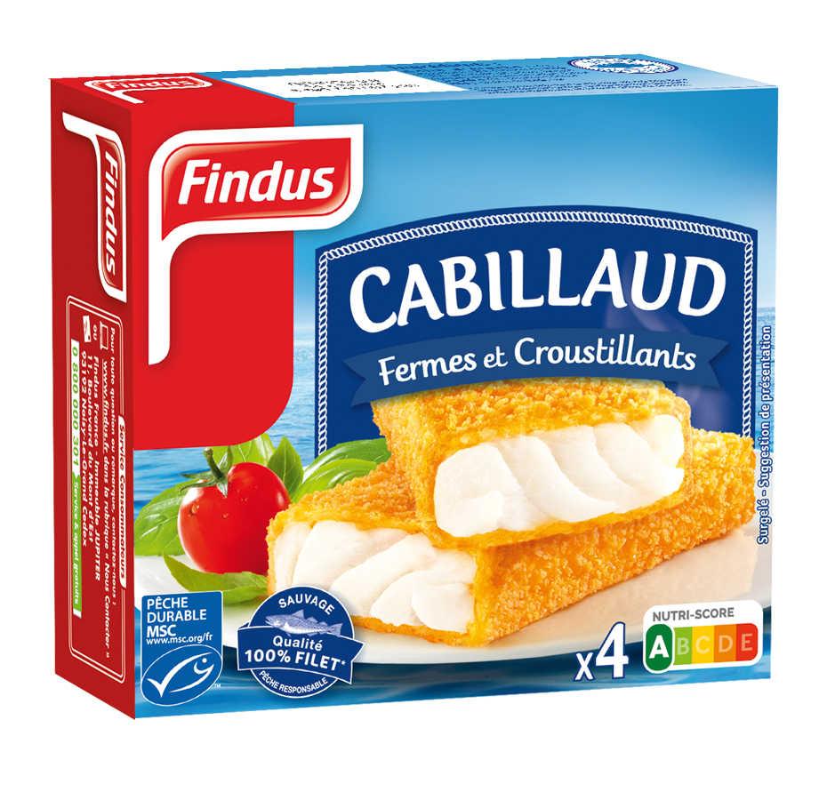 Tranches panées de Cabillaud Findus