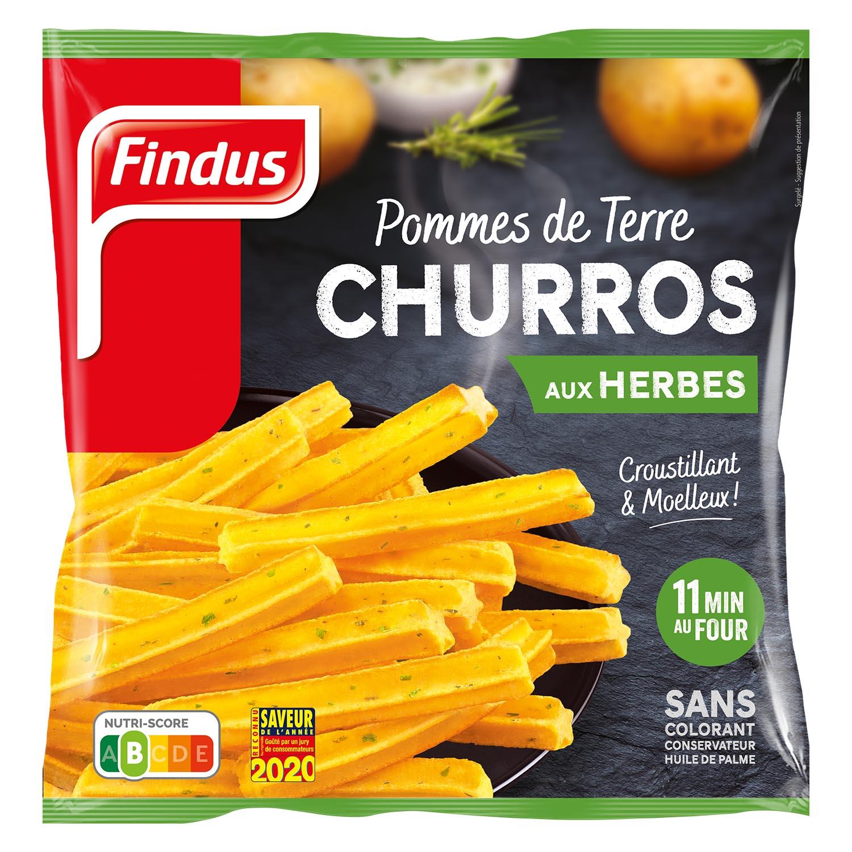 1 sachet de pommes de terre churros aux herbes Findus