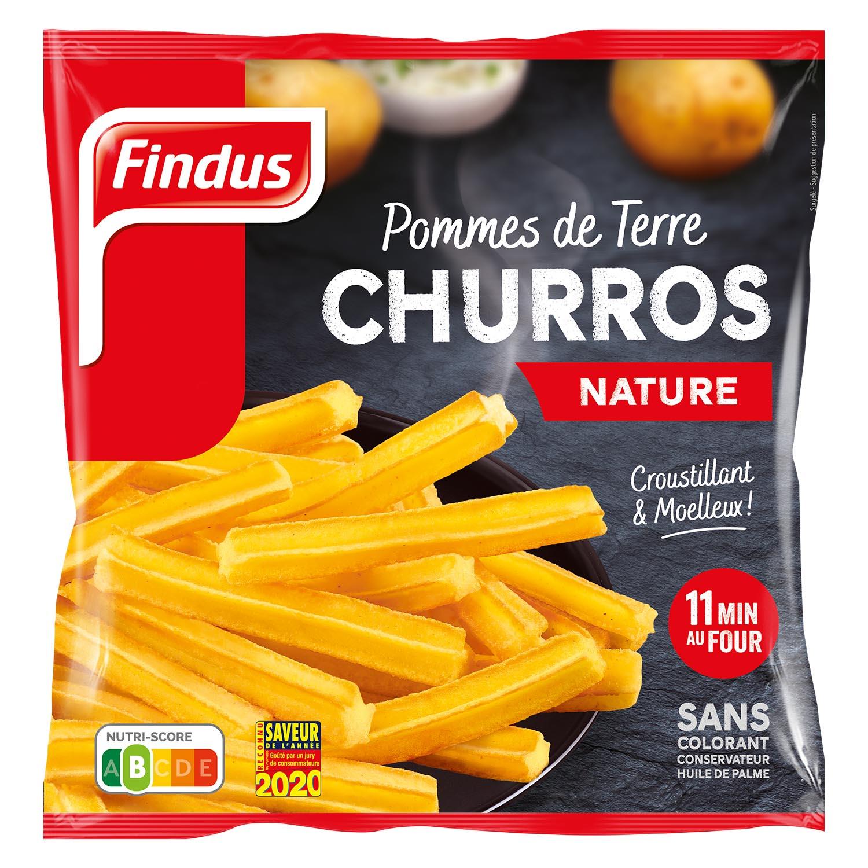 1 sachet de churros de pomme de terre nature Findus
