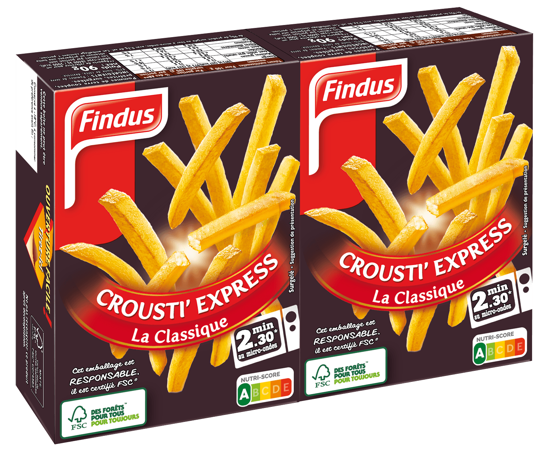 Paquet de frites crousti express classiques Findus