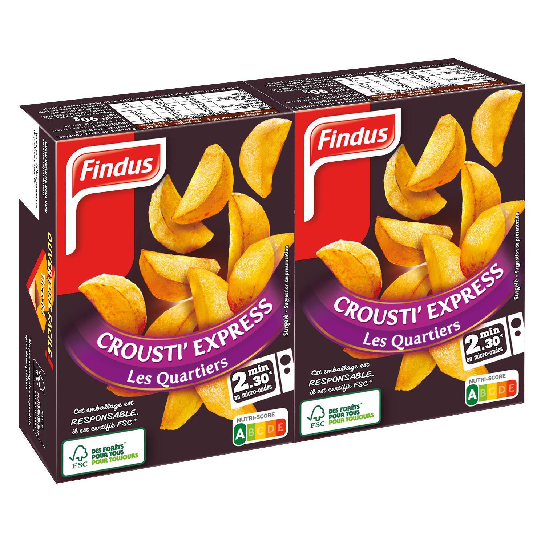 Paquet de quartiers de pommes de terre crousti express Findus