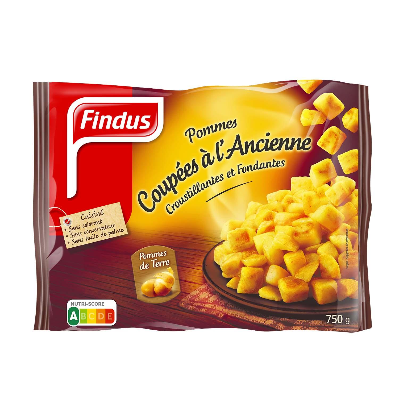 Paquet de pommes de terre coupées à l'ancienne Findus
