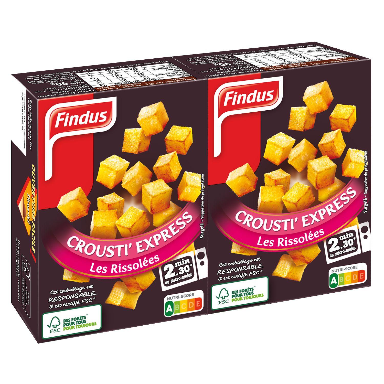 Paquet de pommes de terre rissolées crousti express Findus