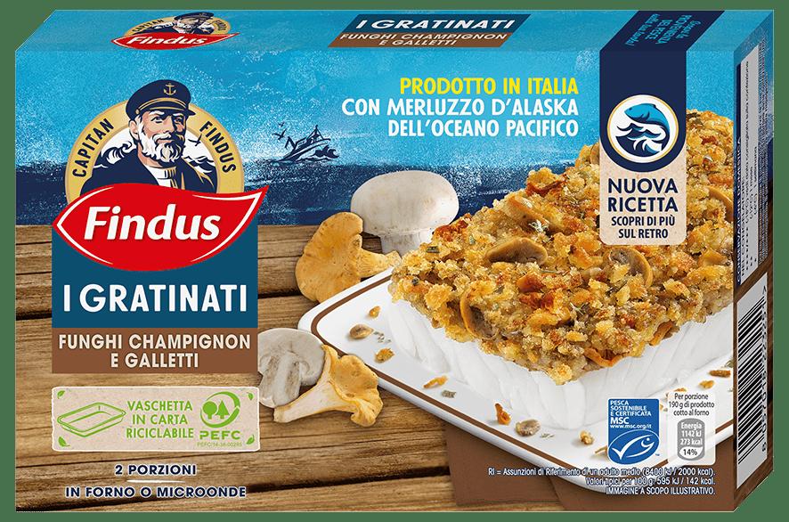 merluzzo gratinato con funghi champignon e galletti - Findus