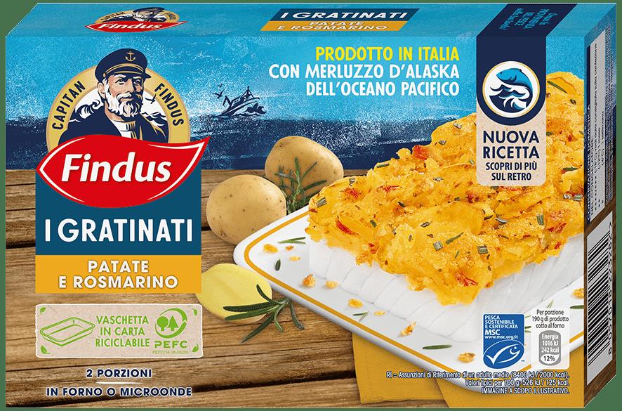 merluzzo gratinato con patate e rosmarino - Findus