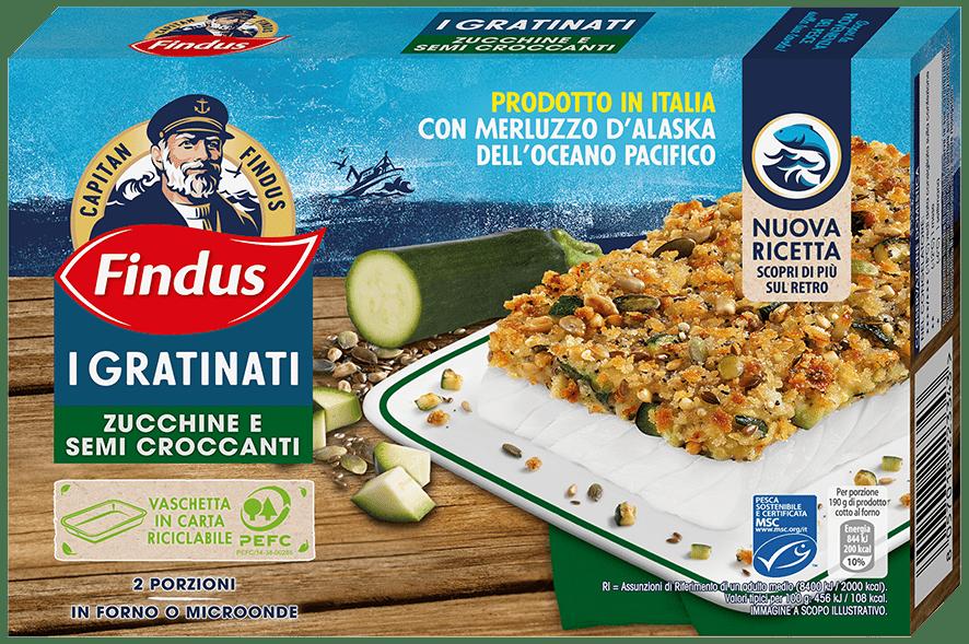 merluzzo gratinato zucchine e semi croccanti - Findus
