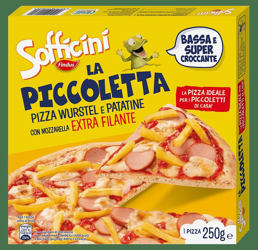 pizza wurstel patatine la piccoletta - Findus