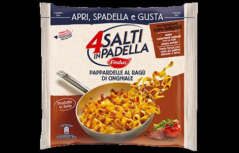 Pappardelle al ragù di cinghiale - 4 Salti Findus