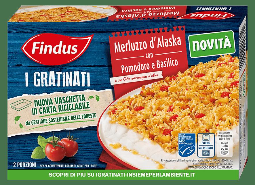 merluzzo gratinato con pomodoro e basilico - Findus