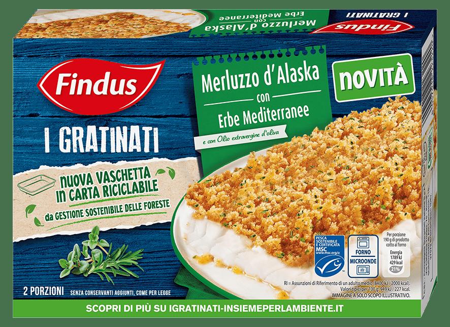 merluzzo gratinato con erbe mediterranee - Findus