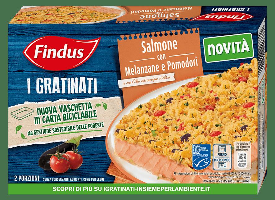 salmone gratinato con melanzane e pomodori - Findus