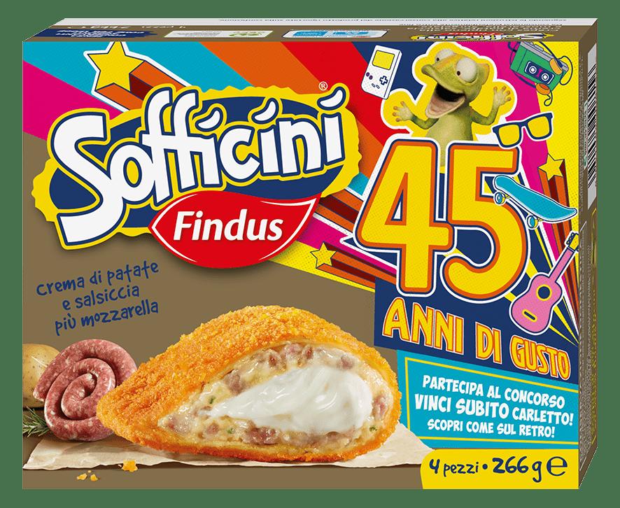 Sofficini Salsiccia e Patate Più Mozzarella - Sofficini Findus