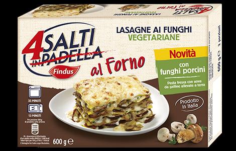 Lasagne ai Funghi Vegetariane - 4 Salti Findus
