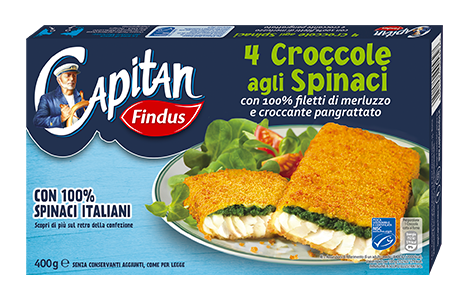 Croccole spinaci promo 50 Capitano - Findus