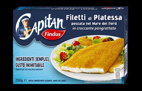 Filetti di platessa impanati promo 50 Capitano - Findus