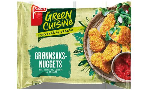 Green Cuisine grønnsaksnuggets pakningsbilde