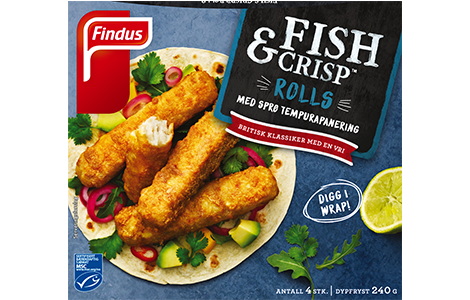 Findus Fish & Crisp Rolls (produktbilde)