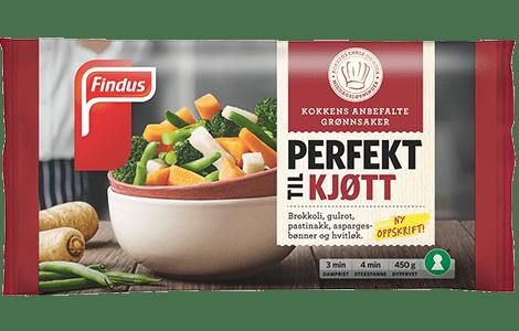 Pakningsbilde grønnsaker Perfekt til kjøtt fra Findus