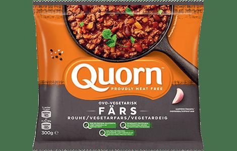 Pakningsbilde: Quorn farse brukt i gryterett (vegetarisk alternativ til kjøttdeig)