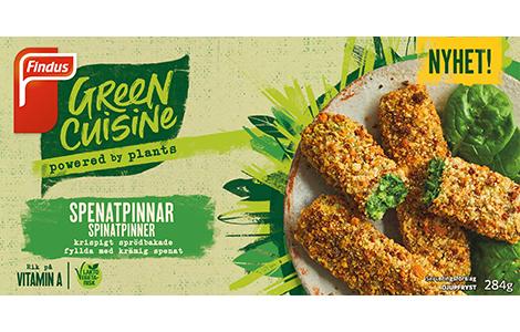 Green Cuisine spinatpinner pakningsbilde