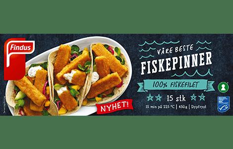 Pakningsbilde: Findus Våre beste fiskepinner