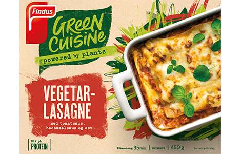 Green Cuisine vegetarlasagne pakningsbilde