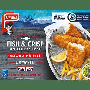Fish & Crisp förpackning Findus