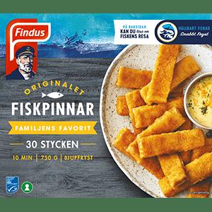 Fiskpinnar Findus förpackning