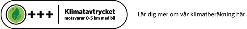 Klimatberäknade recept symbol max 0,7 kg CO2 med text