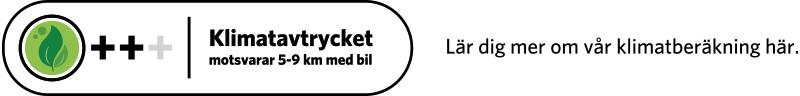 Klimatberäknade recept symbol 0,8 till 1,4 kg CO2 med text