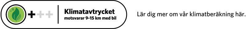 Klimatberäknade recept symbol Bra mellan 1,5 och 2,4 CO2 med text