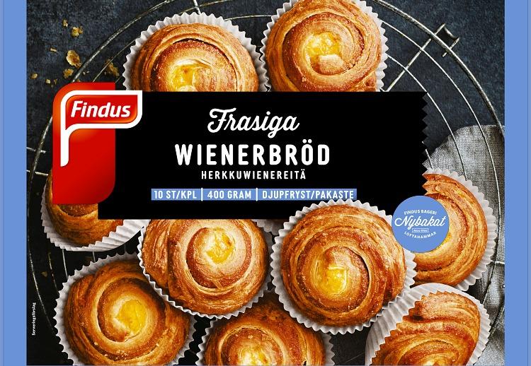 Findus Frasiga wienerbröd förpackning