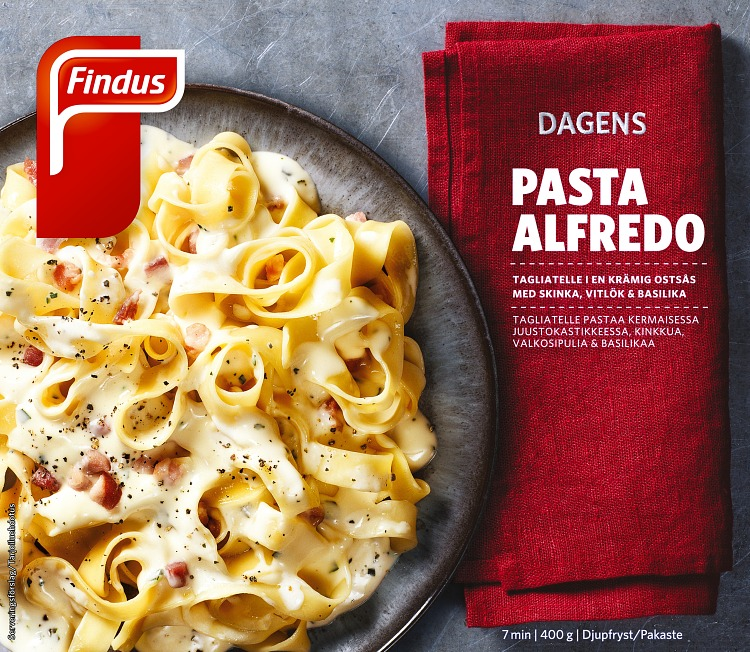 Dagens pasta alfredo förpackning