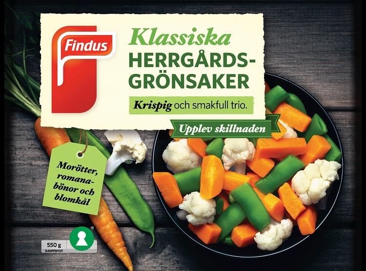 Findus Klassiska herrgårdsgrönsaker förpackning