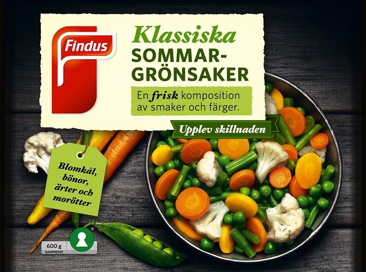 Findus Klassiska sommargrönsaker förpackning