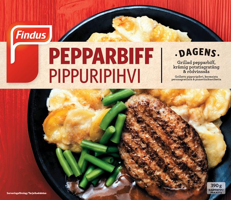 Findus Pepparbiff förpackning