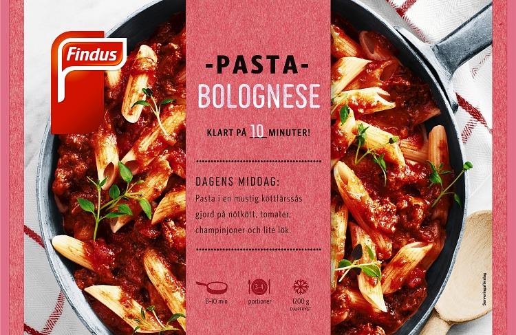 Findus Pasta bolognese förpackning