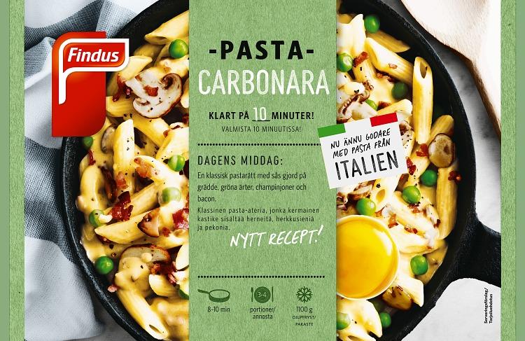 Findus Pasta carbonara förpackning
