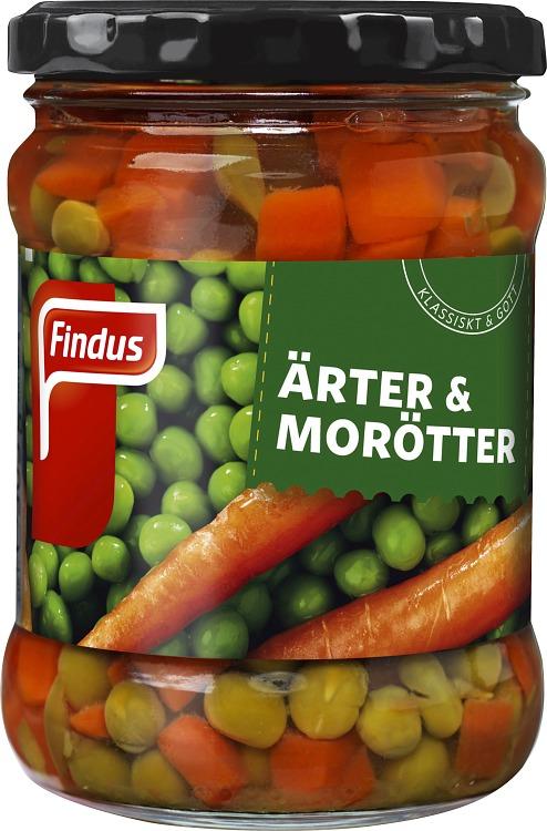 Findus Ärter & morötter förpackning burk