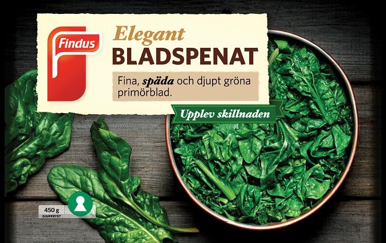 Findus Elegant bladspenat förpackning